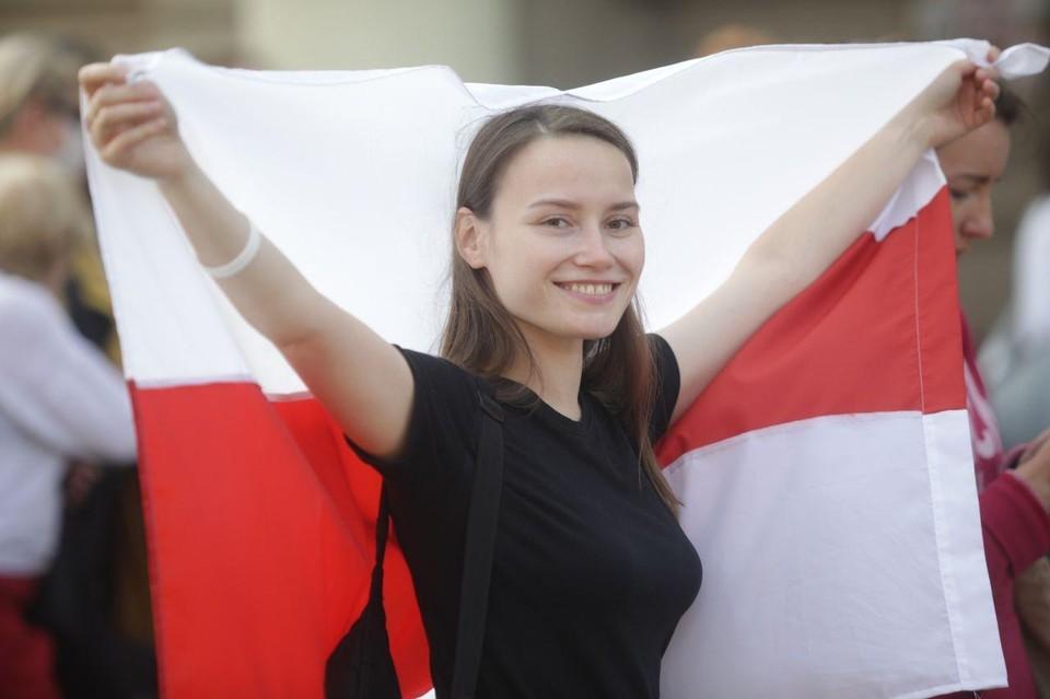 Минска женская половина белорусского протеста вышла на митинг