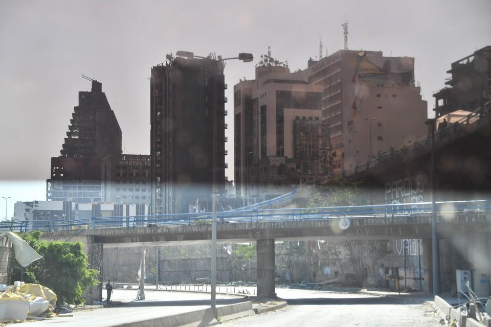 В центре Бейрута вспыхнул пожар