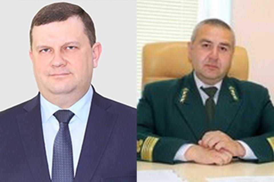 Слева экс-министр Димитрий Маслодудов, справа - и.о. министра лесного хозяйства Анвар Бикбов Фото: правительство края