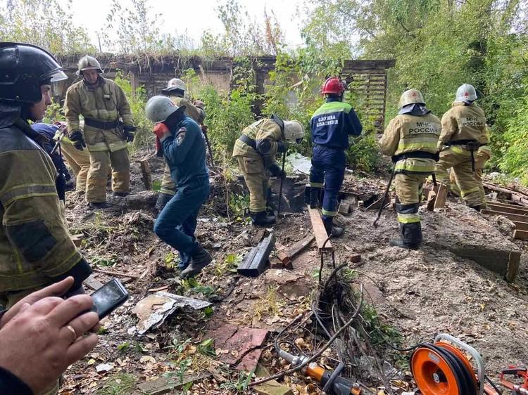 Из завалов смог спастись только один подросток. Фото: Пресс-служба ГУ МЧС России по Удмуртии