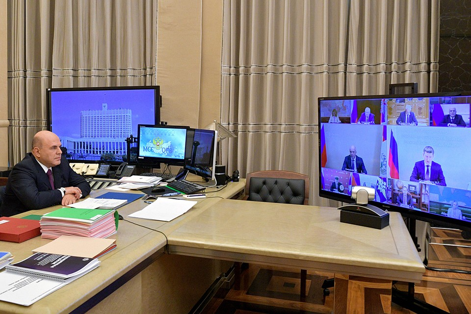 Премьер-министр Михаил Мишустин провел заседание правительства. Фото: Александр Астафьев/POOL/ТАСС