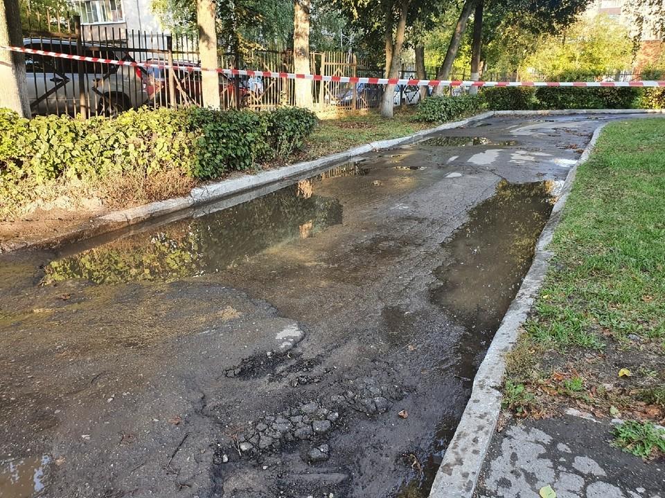 В Заречье затопило несколько улиц
