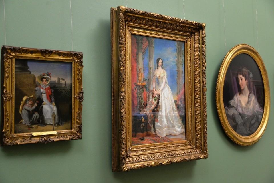 Картины из Третьяковской галереи размещены в тех же залах, где находились во время эвакуации. Фото: Пермская художественная галерея