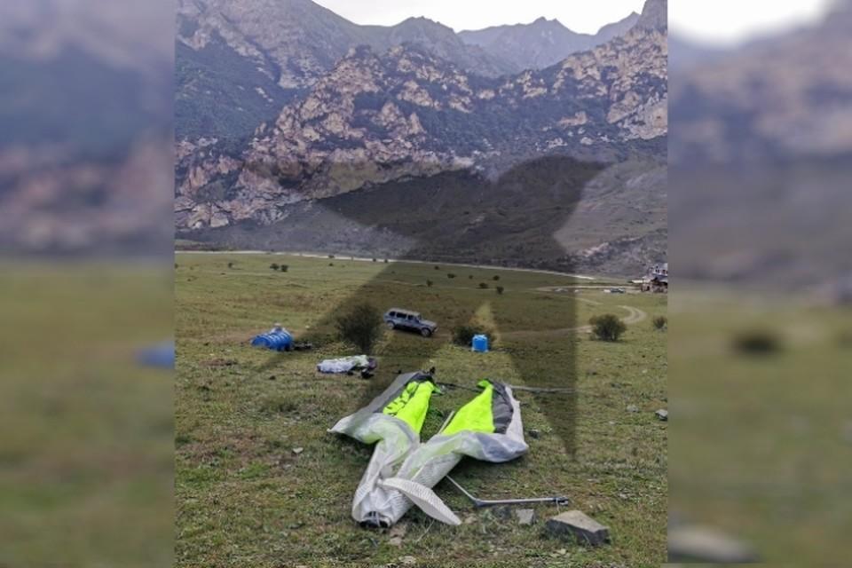 Неудачную посадку совершил 48-летний турист