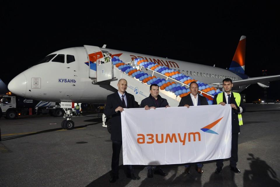 В Мурманске первый рейс из Краснодара встречала целая делегация.