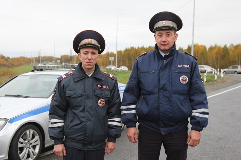 В Кемерове инспекторы ГИБДД помогли спасти женщину с инсультом. Фото: ГУ МВД России по Кемеровской области