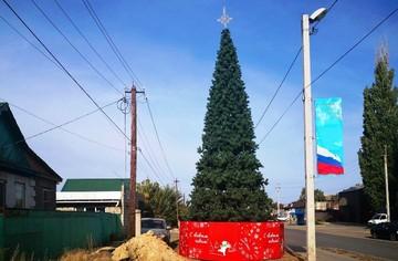 «Да катись ты, 2020-й»: в райцентре Волгоградской области в сентябре установили новогоднюю елку