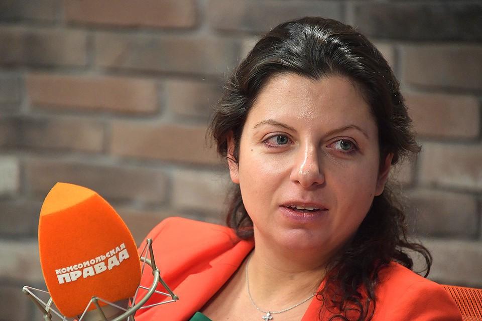 Главный редактор телеканала RT Маргарита Симоньян.