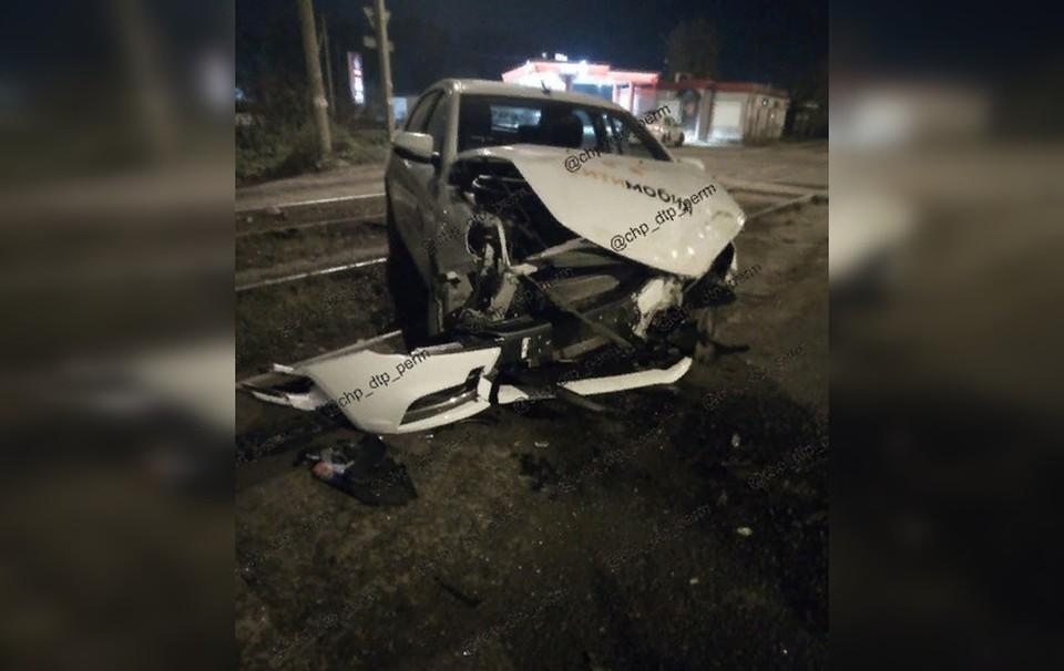 В ДТп пострадал только водитель легковушки.