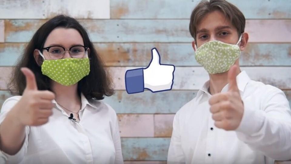 """Ребята шили маски для волонтеров акции """"Мы вместе"""""""