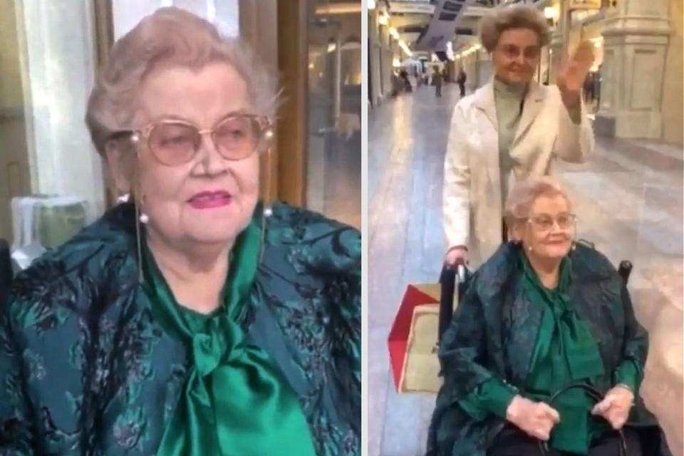 Елена Малышева прогулялась по центру Москвы с мамой, переболевшей Covid-19.