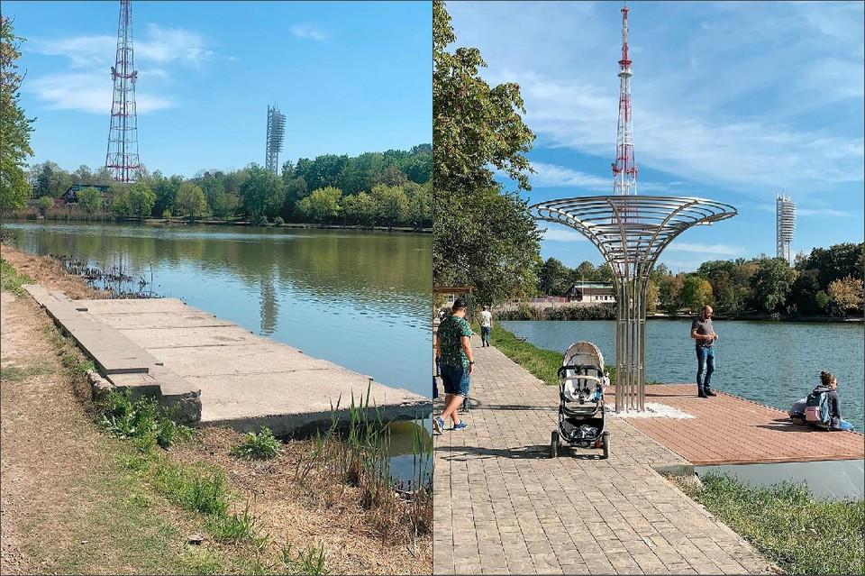 Как преобразился Дмитриевский сквер - на фото (слева) до и после. Фото: instagram.com/smenila_imya