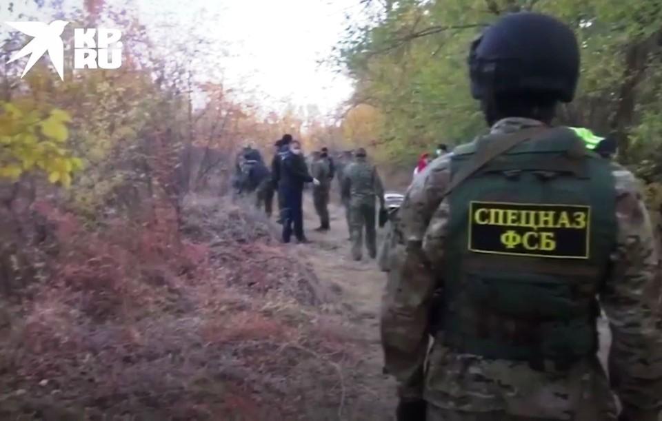 Фото - скрин оперативного видео ФСБ.