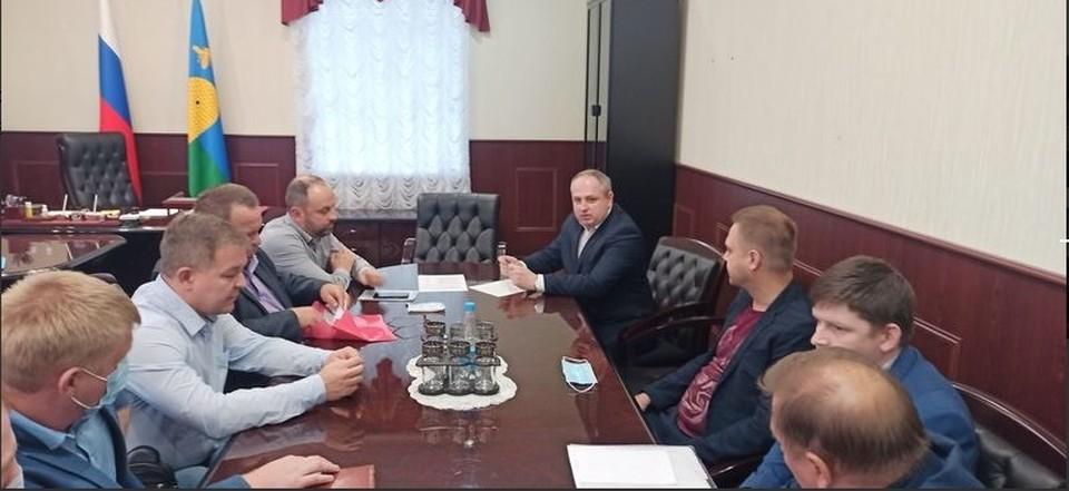 Первое рнабочее совещание председателей и заместителей председателей комитетов Тамбовской городской Думы седьмого созыва
