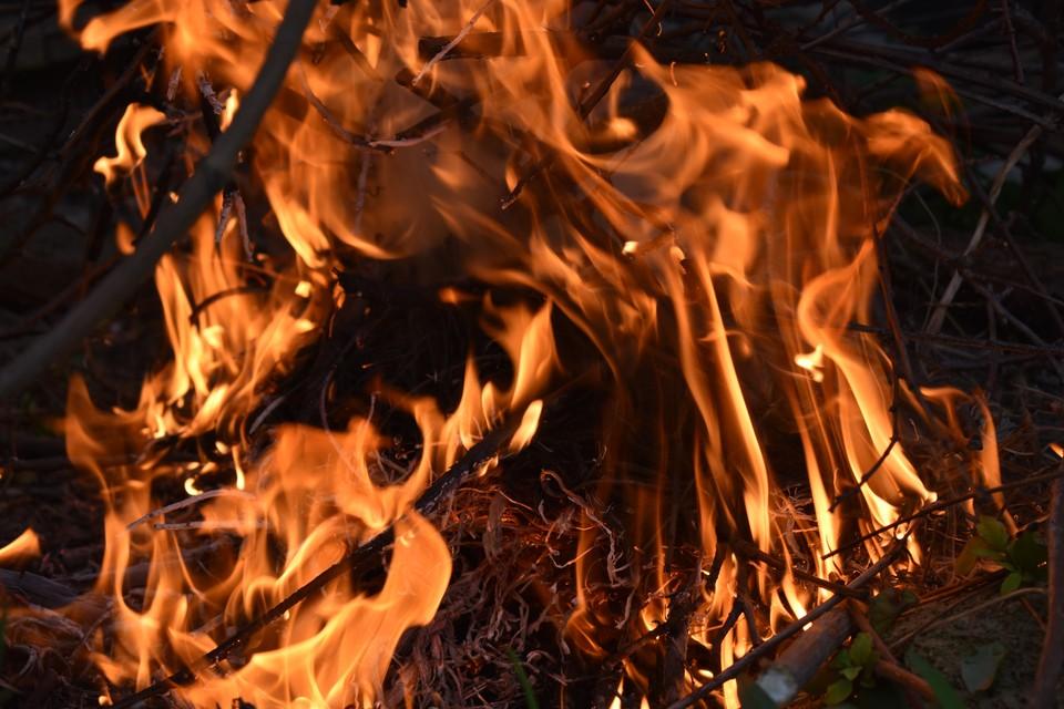 Возгорание началось на крышах дома и гаража.