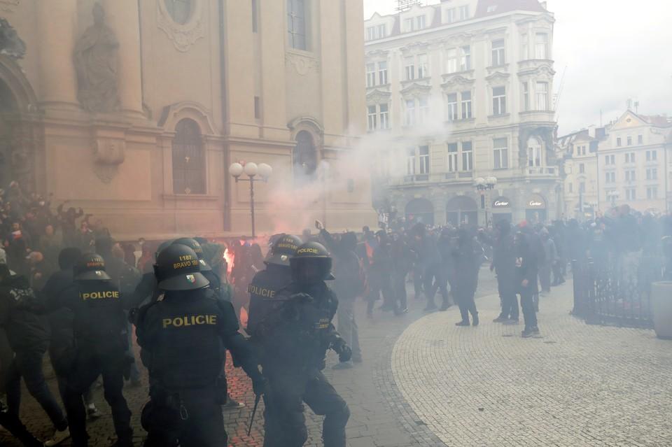 Протесты в Чехии