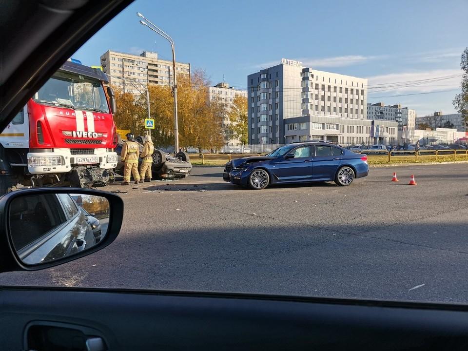 """В аварии пострадал один из водителей. Фото - группа """"Происшествия Тольятти"""""""