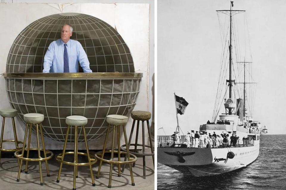 Мебель стояла на личной яхте Гитлера. Фото: Alexander Historical Auctions
