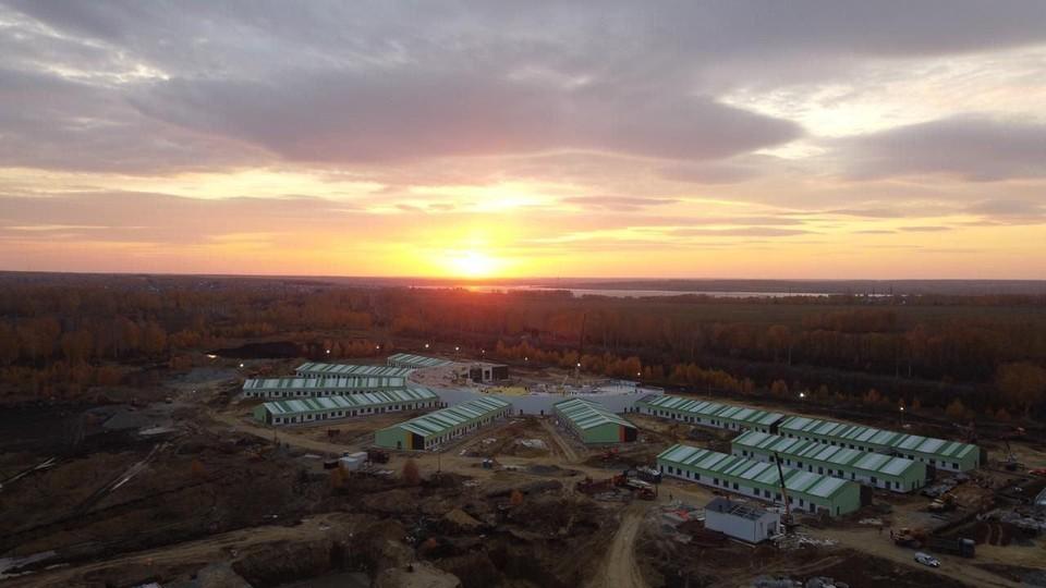 Больница в Малой Сосновке почти построена. Фото: пресс-служба министерства строительства Челябинской области.