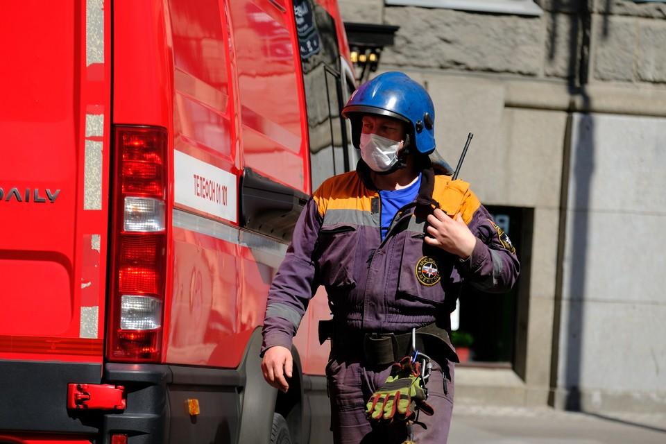 В Петербурге произошел пожар на территории Невского рынка