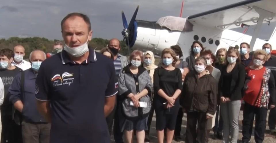 Жители Симферополя обратились к Путину по поводу аэродрома «Заводское». Фото: скриншот из видео.