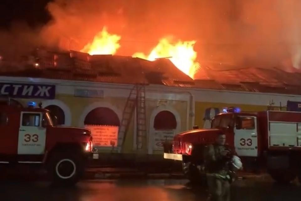 Пожар в Чаплыгине Липецкой области
