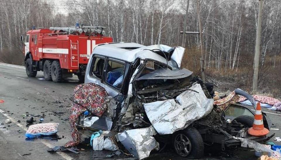 Под Новосибирском произошла страшная авария.