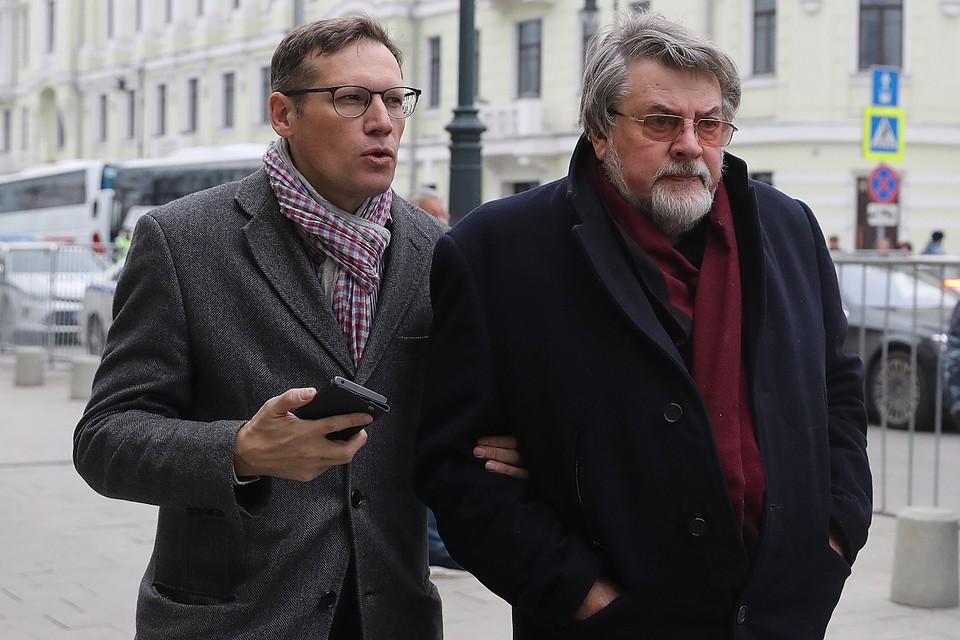 Александр Ширвиндт и его внук Андрей. Фото: Сергей Фадеичев/ТАСС