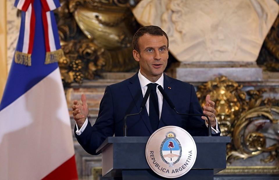 Президент Франции Эмануэль Макрон