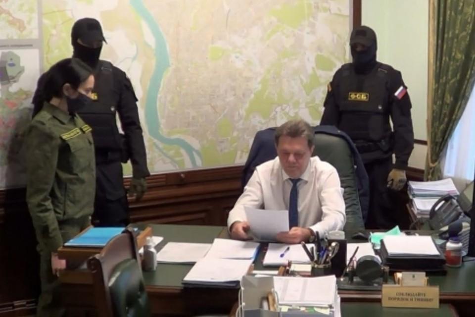 Задержание мэра Томска сотрудниками УФСБ. Фото: СУ СКР