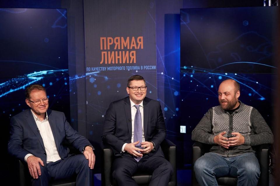Во Всемирный день качества в России состоялась вторая ежегодная федеральная «Прямая линия» по качеству моторного топлива. Фото: Дмитрий Бурмистров.