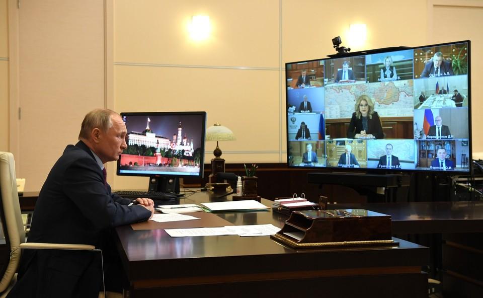 Владимир Путин провёл в режиме видеоконференции совещание с членами Правительства Российской Федерации. Фото: kremlin.ru