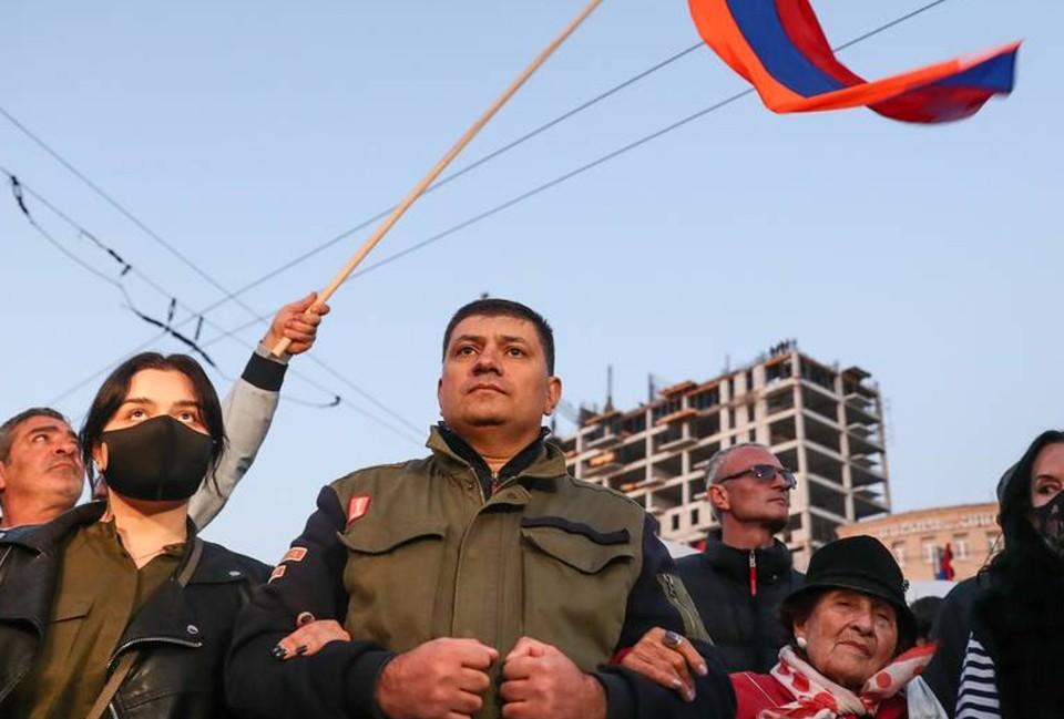 Активисты перекрыли центральные улицы Еревана с требованием отставки Пашиняна.Фото: Александр Рюмин/ТАСС.
