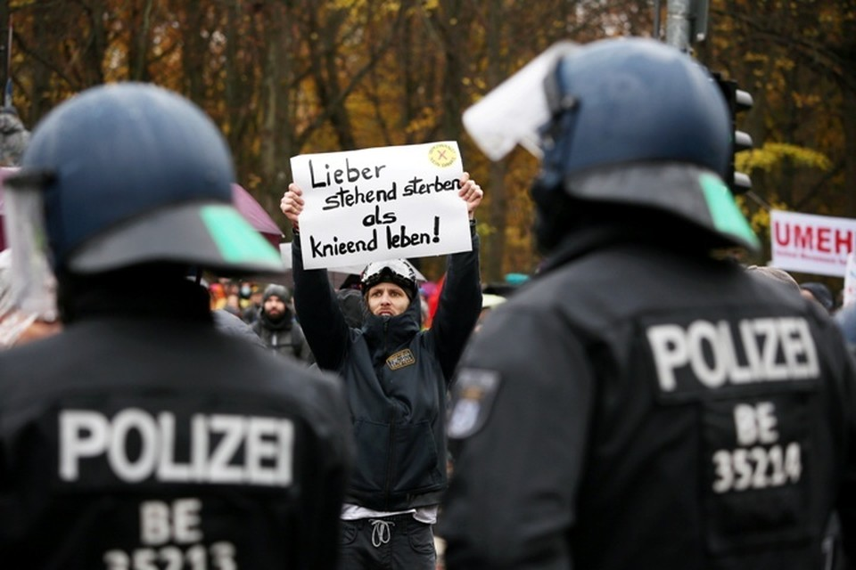 Полиция Берлина задержала 365 протестующих