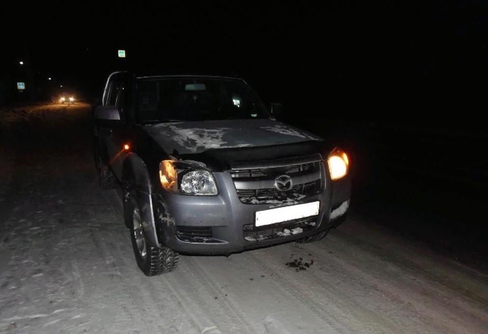 Пострадавший был сбит автомобилем Mazda ВТ 50. Фото: ГУ МВД по Свердловской области
