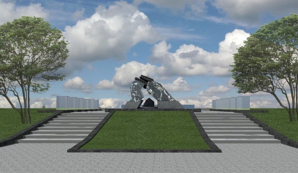 Памятник станет частью триптиха Победы. Эскиз монумента