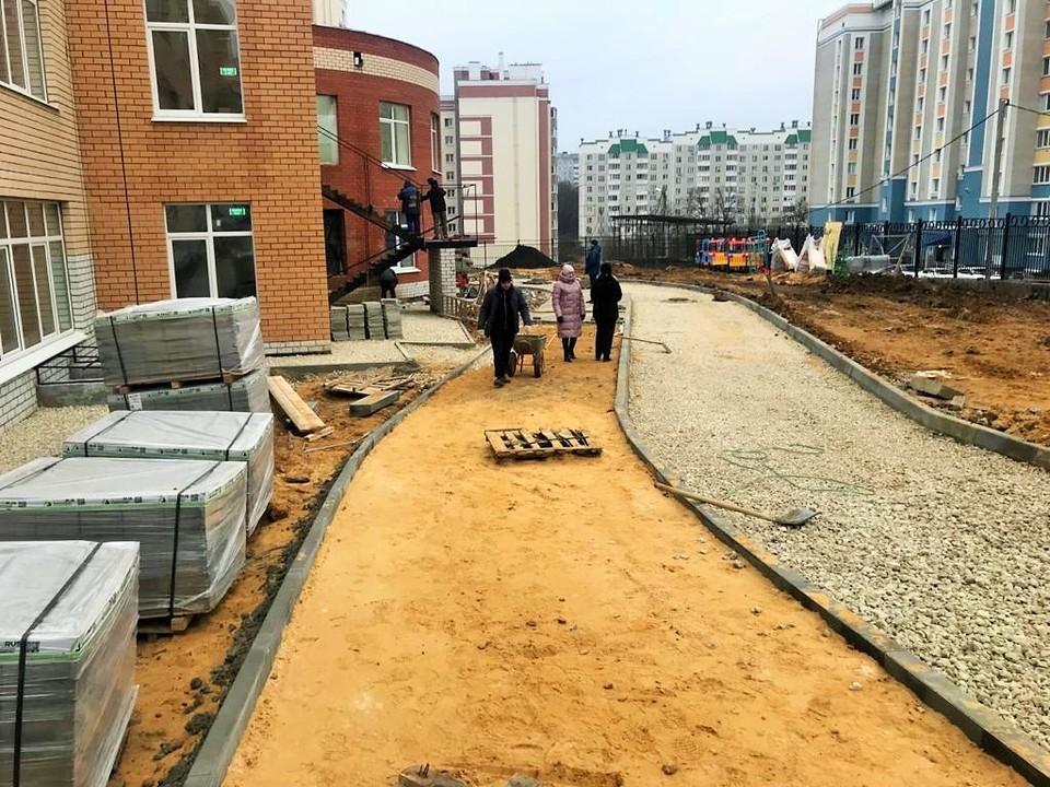 Детский сад №93 на улице Родзевича-Белевича достроят к 10 декабря. Фото: пресс-служба мэрии Орла