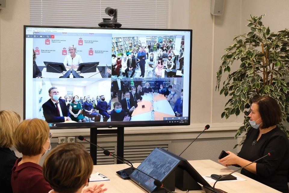 Открытие новых библиотек прошло в формате телемоста. ФОТО: Илья Радченко