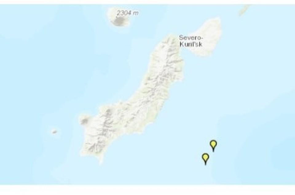 Землетрясение с сильным афтершоком произошло возле Северных Курил