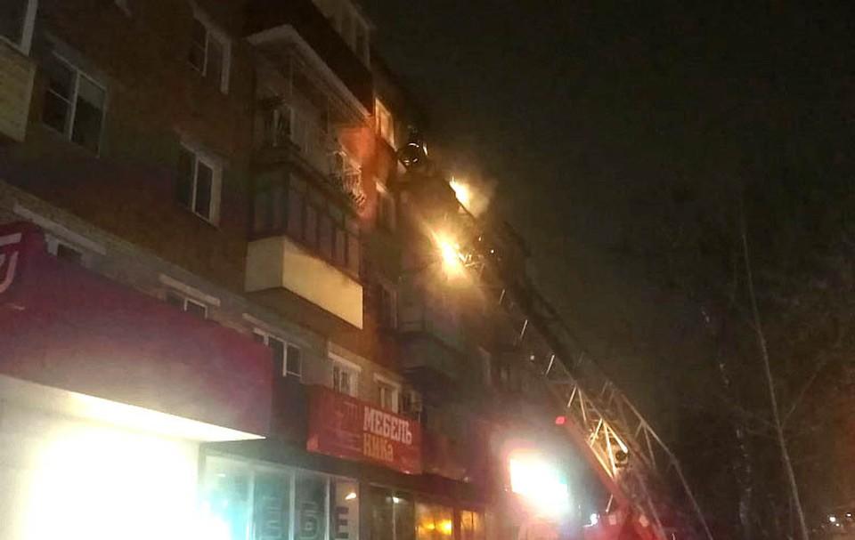 Из горящего дома в Туле спасены 12 человек