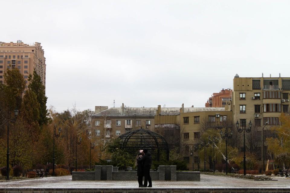 Зима в Донецк пришла почти по календарю, но пока без снега