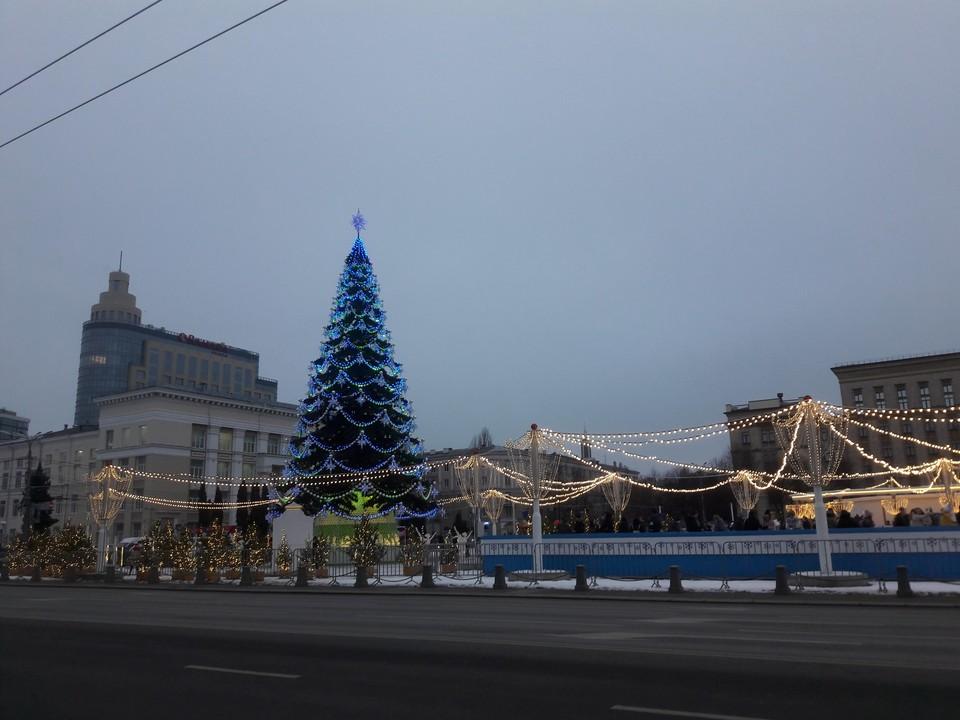 В ночь на 1 января площадь Ленина будет открыта для воронежцев.