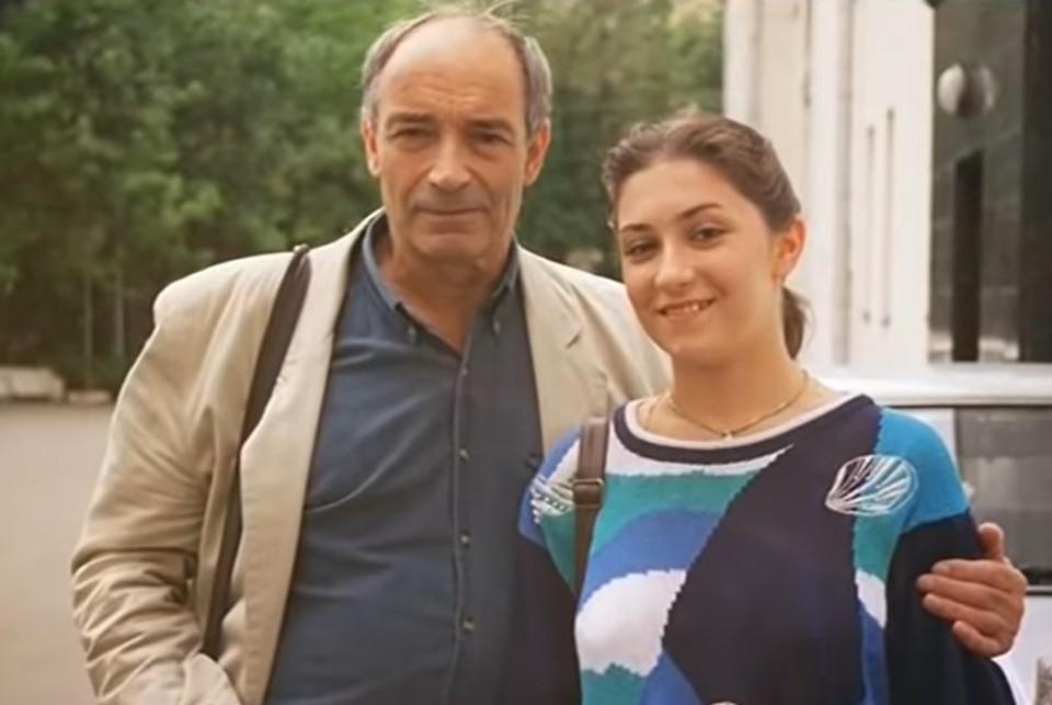 Валентин Гафт с дочерью Ольгой.