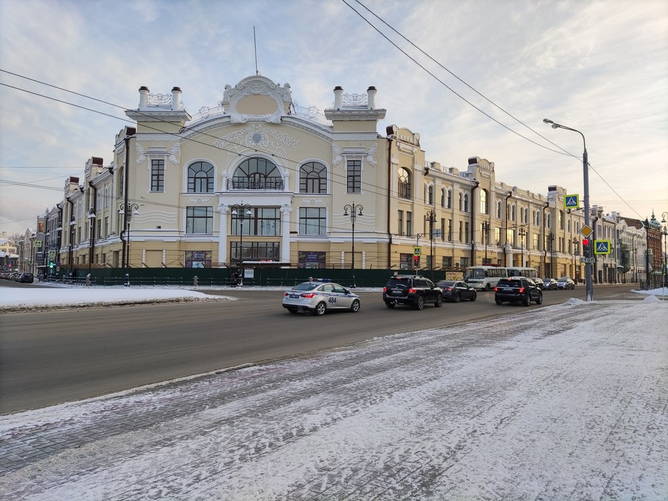 Обновленное историческое здание снова украшает главный проспект Томска.