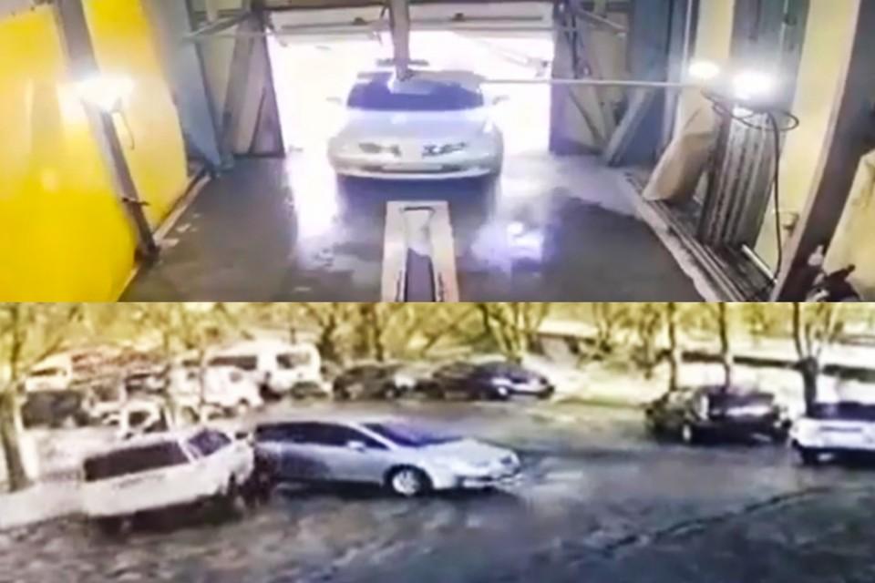 Происшествие попало на камеры видеонаблюдения