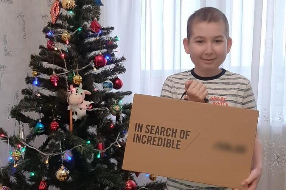 Свое желание Дамир загадал в рамках Всероссийского благотворительного проекта «Мечтай со мной».