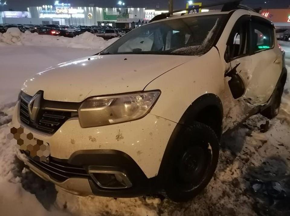 Сразу несколько машин получили серьезные повреждения