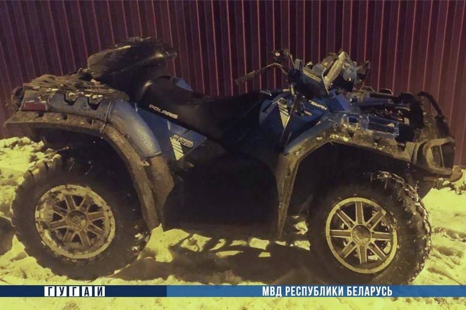 Нетрезвый мужчина перевернулся на квадроцикле в Речицком районе. Фото: МВД.