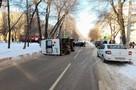 В Воронеже в аварию с иномаркой попала скорая: ранен фельдшер