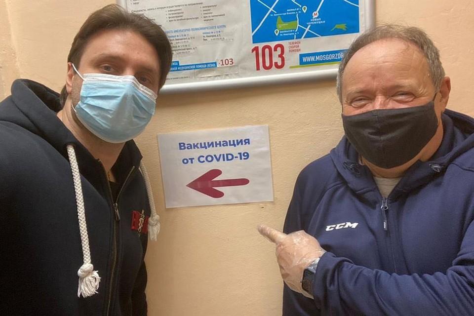Сегодня вакцинировались Алексей Маклаков и Эдгард Запашный.